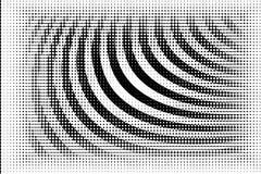 Fond tramé de cercle de BW Image libre de droits