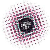 Fond tramé de vecteur de points colorés abstraits Photo libre de droits
