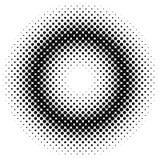 Fond tramé géométrique de modèle de point des cercles Photographie stock