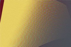 Fond tramé jaune de cercle Images stock