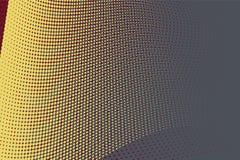 Fond tramé jaune de cercle Photo libre de droits