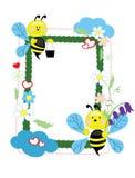 Fond - trame avec des abeilles Photo stock