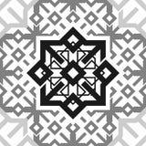 Fond transparent d'ornement de modèle de texture répétitive noire et blanche sans couture de tuile Images libres de droits