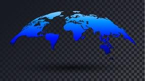 fond transparent de carte du monde 3D illustration de vecteur