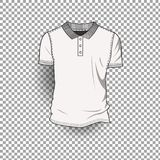 Fond transparent de Front Back Realistic Design Icon de calibre de T-shirt d'isolement Photo stock
