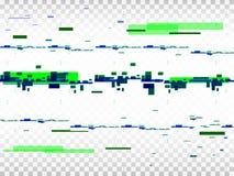 Fond transparent de problème Bruit de pixel de Digital Formes de Glitched Effet de déformation d'Absract Illustration de vecteur Images libres de droits
