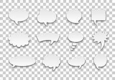 Fond transparent de volume réglé de bulle de la parole Photographie stock
