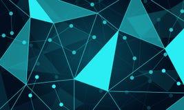 Fond triangulaire de la science fiction illustration stock