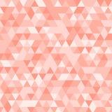 Fond triangulaire géométrique rose multicolore de graphique d'illustration Conception polygonale de vecteur Photos stock