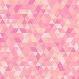 Fond triangulaire géométrique rose multicolore de graphique d'illustration Conception polygonale de vecteur Images libres de droits