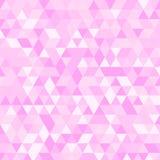 Fond triangulaire géométrique rose multicolore de graphique d'illustration Conception polygonale de vecteur Photos libres de droits
