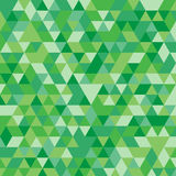 Fond triangulaire géométrique vert multicolore de graphique d'illustration Conception polygonale de vecteur Image libre de droits