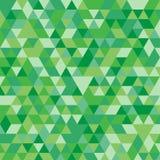 Fond triangulaire géométrique vert multicolore de graphique d'illustration Conception polygonale de vecteur Image libre de droits