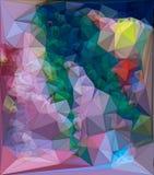 Fond triangulaire polygonal de mosaïque coloré par résumé rendu 3d Photos libres de droits