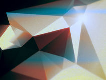 Fond triangulaire polygonal géométrique orange cyan Photos libres de droits