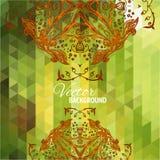 Fond triangulaire vert Photo stock