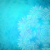 Fond tribal de fleur Images stock