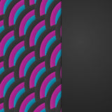 Fond tricolore abstrait onduleux de vecteur Fond avec les arcs gris, le cramoisi et le bleu Photo libre de droits