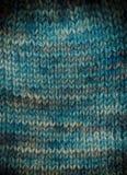 Fond tricoté à la main avec la vignette Photographie stock