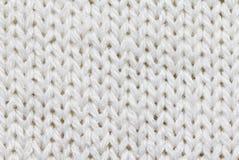Fond tricoté de couleur blanche photographie stock libre de droits