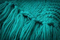 Fond tricoté de laine Images stock