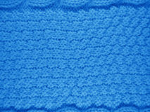 Fond tricoté de laine - bleu-clair Photos stock