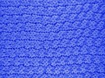 Fond tricoté de laine - bleu-foncé Image stock