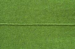 Fond tricoté de texture de couleur verte Image libre de droits