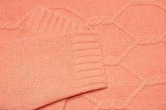Fond tricoté de texture de laine Photos libres de droits