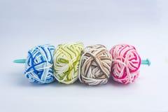 Fond tricoté fait main de crochet Image stock