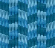 Fond tricoté par bleu sans couture illustration libre de droits