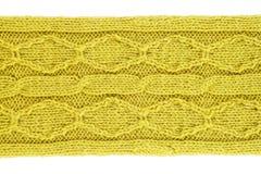 Fond tricoté par laine verte Image stock