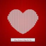 Fond tricoté par Noël avec le coeur Images stock