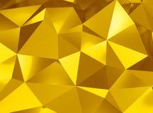 Fond tridimensionnel géométrique en métal Images stock