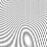 Fond trompeur avec les lignes chaotiques noires, style de moirage Photos stock
