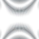 Fond trompeur avec les lignes chaotiques noires, style de moirage Contr Image libre de droits