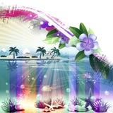Fond tropical abstrait Image libre de droits