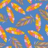 Fond tropical avec des palmettes illustration libre de droits