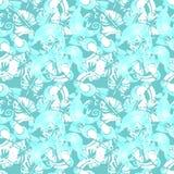 Fond tropical d'aquarelle Configuration sans joint Image stock