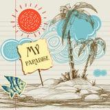 Fond tropical de paradis Photos libres de droits