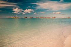 Fond tropical de plage de vintage Images libres de droits