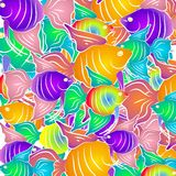 Fond tropical de poissons illustration libre de droits