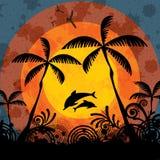 Fond tropical de vacances d'été illustration de vecteur