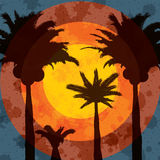 Fond tropical de vacances d'été illustration libre de droits