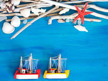 Fond tropical de voyage Photos libres de droits