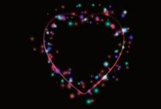 Fond trouble du jour de Valentine de coeur Photographie stock libre de droits
