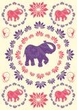 Fond typique de fête d'éléphant d'Asie illustration libre de droits