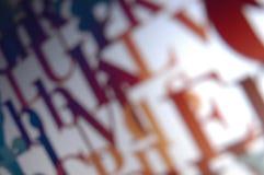 Fond typographique Photo libre de droits