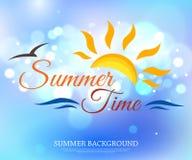 Fond typographique brillant d'heure d'été avec Photos libres de droits