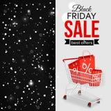Fond typographique brillant de vente noire de vendredi Photos stock